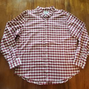 Old Navy Red & White Oxford Slim Fit Shirt